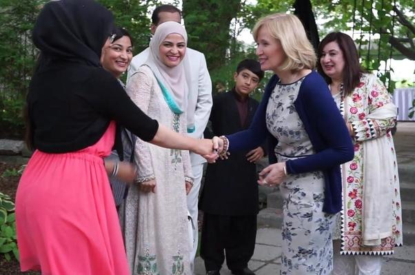 Welcome by Madame Harper to Iftar.