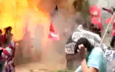 Cumhuriyet patlama anı görüntüsünü yayınladı.