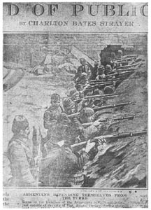 Insurgés Arméniens combattant dans les tranchées contre les troupes ottomanes pour faciliter à l'armée russe l'occupation de Van.