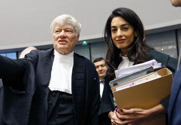 Davaya müdahil olan Ermenistan ünlü oyuncu George Cloony'nin eşi Avukat Emel Alamuddin'i kullandı.