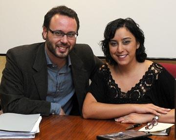 Başak Büyükçelen with José Gabriel Ferreras Rodriguez.