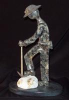 L'exposition de sculptures.