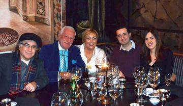 Gecede Fahri Başkonsolos Emin Battika,  Madame Monique ve genç konuklarımız Ömer Özen'le birlikte.
