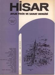 Hisar aylık fikir ve edebiyat dergisi.