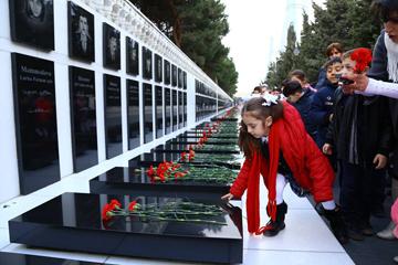 Azerbaijanis commemorated the 'Black January' in Baku.