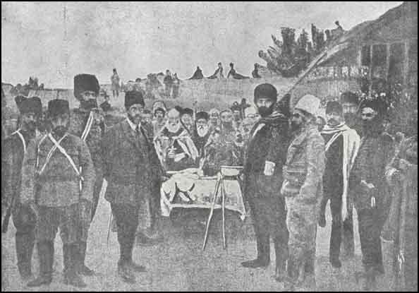 Un band arménien dans l'armée russe.
