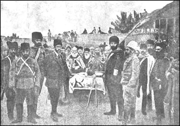 Un régiment volontaire arménien qui guidait  l'armée russe à la Première guerre mondiale contre les Ottomans..