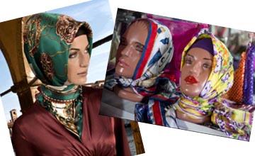 Hijab commercials of popular scarf brands, Başak Büyükçelen mentioned.
